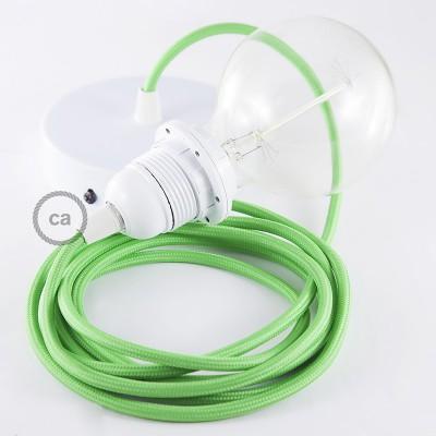 Pendelsæt til lampeskærm med Limegrøn Viskose stofledning RM18