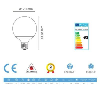 Energisparepære Globe 90 25W E27