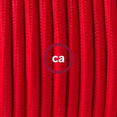 Pendelsæt Porcelæn med Rød Viskose stofledning RM09