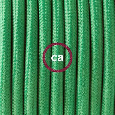 Pendelsæt Porcelæn med Grøn Viskose stofledning RM06