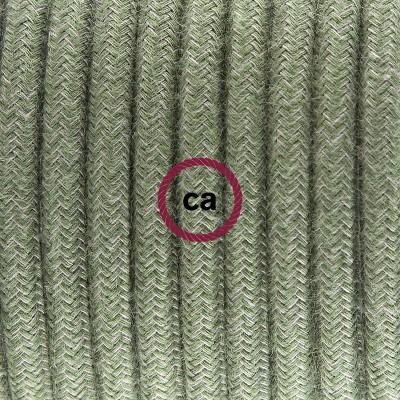 Pendelsæt Porcelæn med Grågrøn Bomuld stofledning RC63