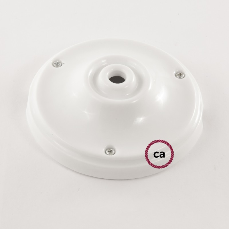 Pendelsæt Porcelæn med ZigZag Stengrå og Ocean Bomuld stofledning RZ25