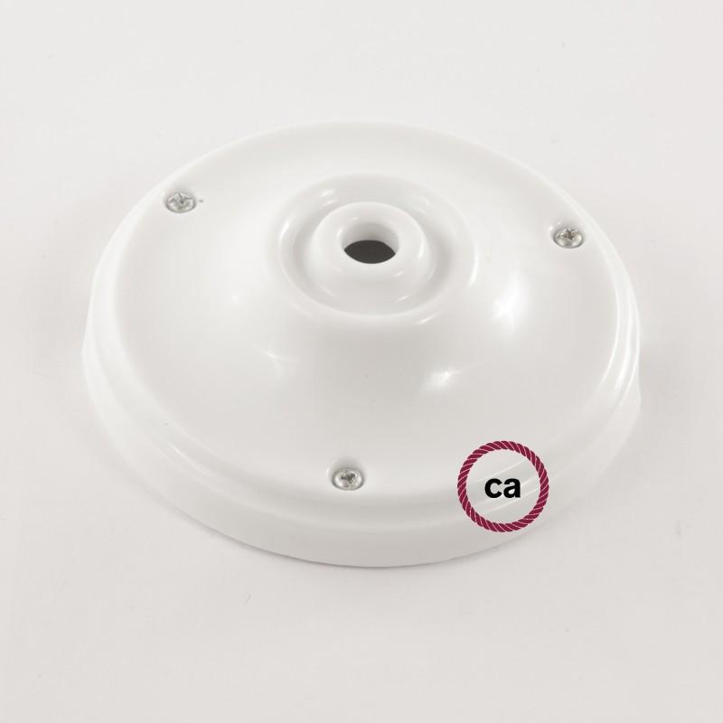 Pendelsæt Porcelæn med ZigZag Ildrød og Grå Bomuld stofledning RZ28