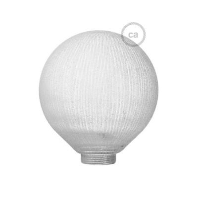 Globe til modular dekorativ lyskilde G125 Hvid med lodrette linjer