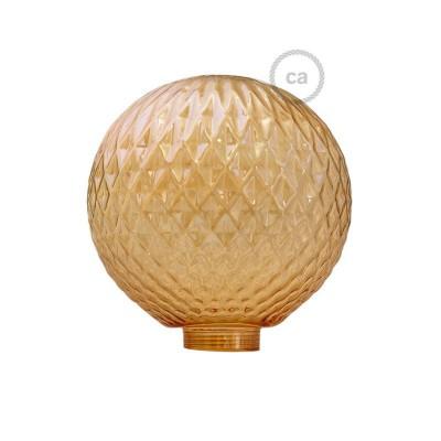 Globe til modular dekorativ lyskilde G125 Røgfarvet Facet