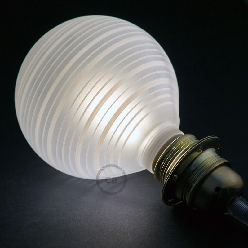 Modular LED Dekorativ lyskilde med Hvid med vandrette linjer 5W E27 Dæmpbar 2700K