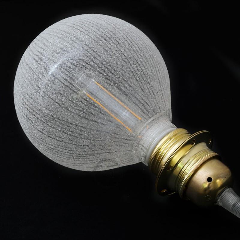 Modular LED Dekorativ lyskilde Hvid med lodrette linjer 5W E27 Dæmpbar 2700K