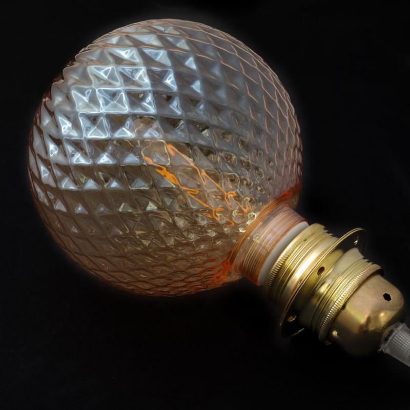 Modular LED Dekorativ lyskilde med Røgfarvet Facet 5W E27 Dæmpbar 2700K