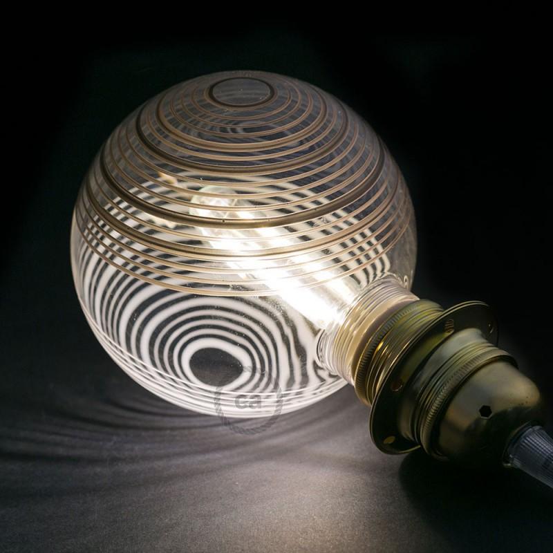 Modular LED Dekorativ lyskilde Hvid med sorte og hvide cirkler 5W E27 Dæmpbar 2700K