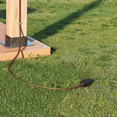 Koblingsboks til kædelys med adaptere til runde og flade kabler