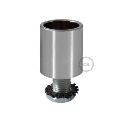 Kromfarvet rørkobling i metal til 16 mm Creative-Tube, tilbehør inkluderet
