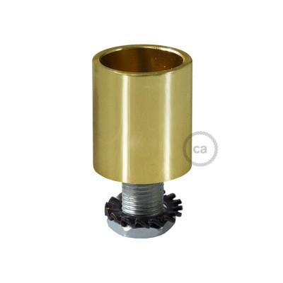 Messingfarvet rørkobling i metal til 16 mm Creative-Tube, tilbehør inkluderet