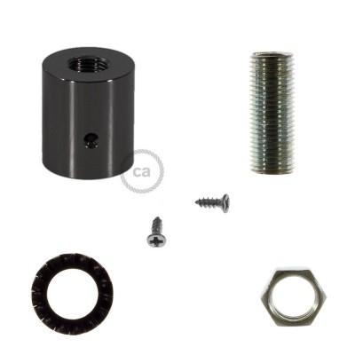 Black Pearl farvet rørkobling i metal til 16 mm Creative-Tube, tilbehør inkluderet