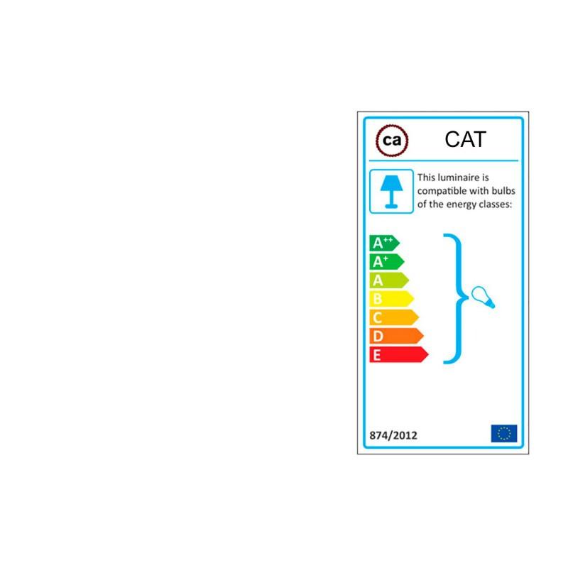 Lyskæde med 7,5m stofledning Lyseblå CM17, 5 stk. fatninger, krog og kontakt