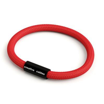 Armbånd af stofledning med magnetlås - RM09 Rød