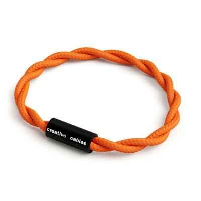 Armbånd af stofledning med magnetlås - TM15 Orange