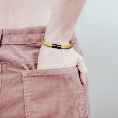 Armbånd af stofledning med magnetlås - RM31 Citron