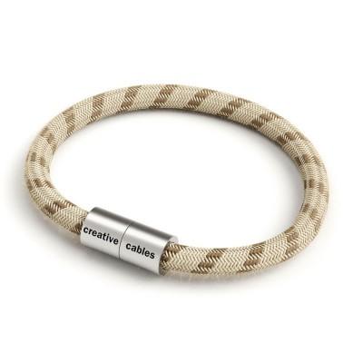 Armbånd af stofledning med magnetlås - RD53 Bark striber