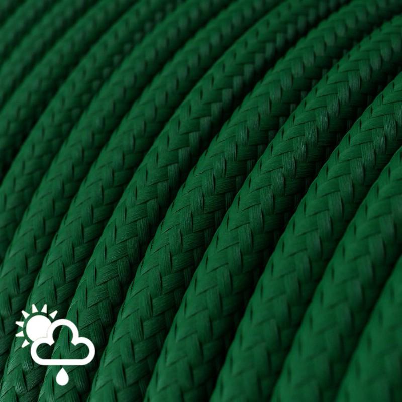 Rund udendørsledning beklædt med Mørkegrøn viskose SM21