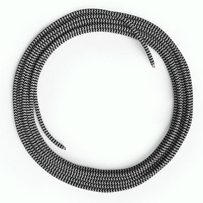 LAN Ethernet-kabel Cat 5e uden RJ45 stik - Viskosestof RZ04 ZigZag Sort