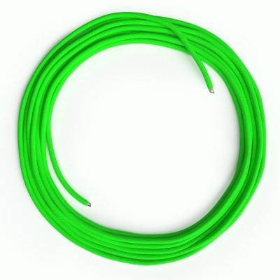 LAN Ethernet-kabel Cat 5e uden RJ45 stik - Viskosestof RF06 Neon Grøn