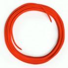 LAN Ethernet-kabel Cat 5e uden RJ45 stik - Viskosestof RF15 Neon Orange