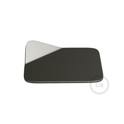 Magnetico®-Base Mørk krom, metalbase til glatte overflader til Magnetico®-Plug
