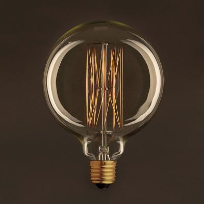 Gylden Vintage Globe lyskilde G125 Carbon Filament Cage 30W E27 dæmpbar 2000K