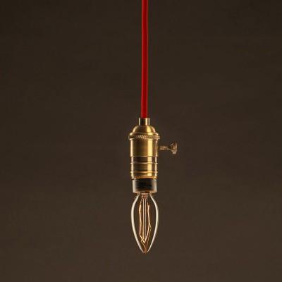 Vintage Gylden Candle lyskilde C35 Carbon Filament ZigZag 30W E27 dæmpbar 2000K