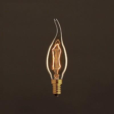 Vintage Gylden Gust of wind lyskilde C35 Carbon Filament ZigZag 30W E14 Dæmpbar 2000K