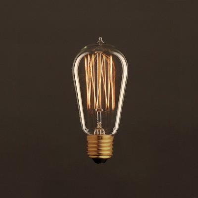 Vintage Gylden Edison ST58 lyskilde Carbon Filament Cage 30W E27 dæmpbar 2000K