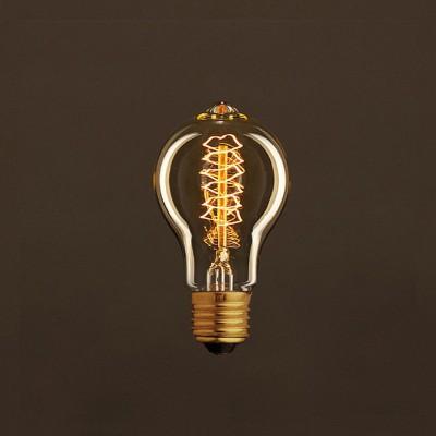 Vintage Gylden Drop A60 lyskilde Carbon Filament dobbelt spiral 30W E27 dæmpbar 2000K