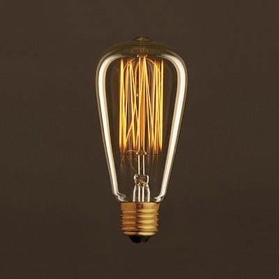 Vintage Gylden Edison ST64 lyskilde Carbon Filament Cage 30W E27 dæmpbar 2000K