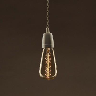 Vintage Gylden Edison ST64 lyskilde Carbon Filament dobbelt spiral 30W E27 dæmpbar 2000K
