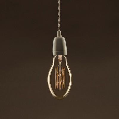 Vintage Gylden Candle lyskilde E75 Carbon Filament dobbelt spiral 30W E27 dæmpbar 2000K