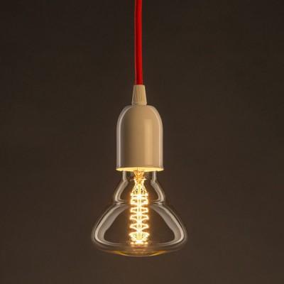 Vintage Gylden BR95 lyskilde Carbon Filament dobbelt spiral 30W E27 dæmpbar 2000K