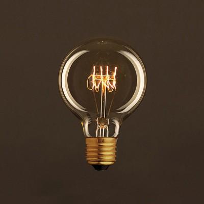 Vintage Gylden Globe G80 lyskilde Carbon Filament Spiral 30W E27 dæmpbar 2000K
