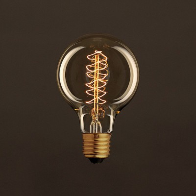 Vintage Gylden Globe G80 lyskilde Carbon Filament dobbelt spiral 30W E27 dæmpbar 2000K
