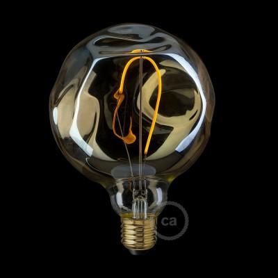 LED Gylden Pære - Globe G125 Enkel Filament med irregulært glas - 2.5W E27 dekorativ Vintage 2000K