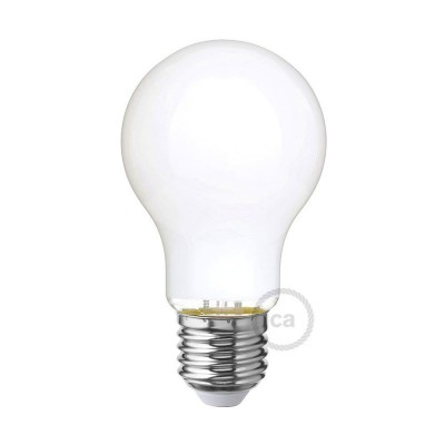 LED Mælkehvid Pære - Drop A60 - 6W E27 Dæmpbar 2700K