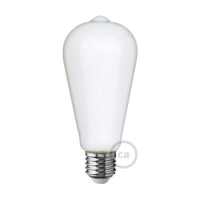 LED Mælkehvid Pære - Edison ST64 - 6W E27 Dæmpbar 2700K