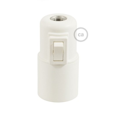 Thermoplastic E27 lamp holder kit with switch