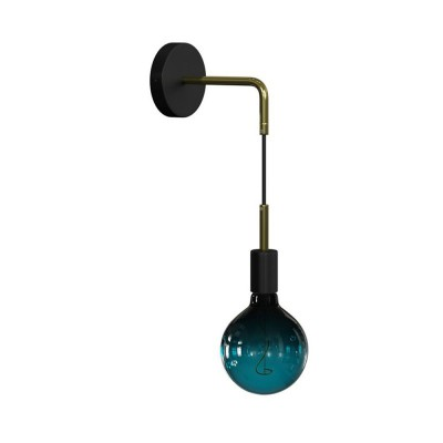 Fermaluce Metal wall light with bent extension and pendant lamp holder