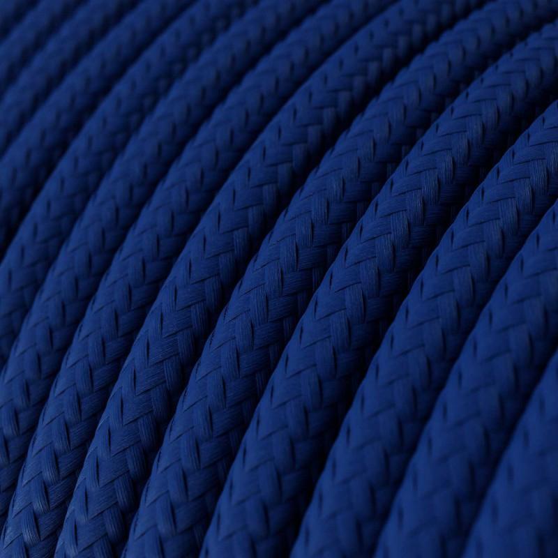 Rund tekstilledning i viskose - RM12 Blå