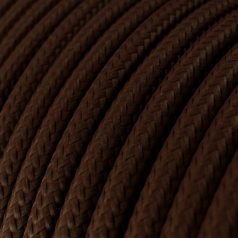 Rund tekstilledning i viskose - RM13 Brun