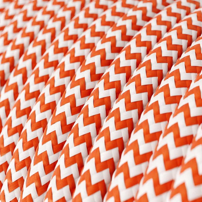Rund tekstilledning i viskose - Zigzag RZ15 Orange