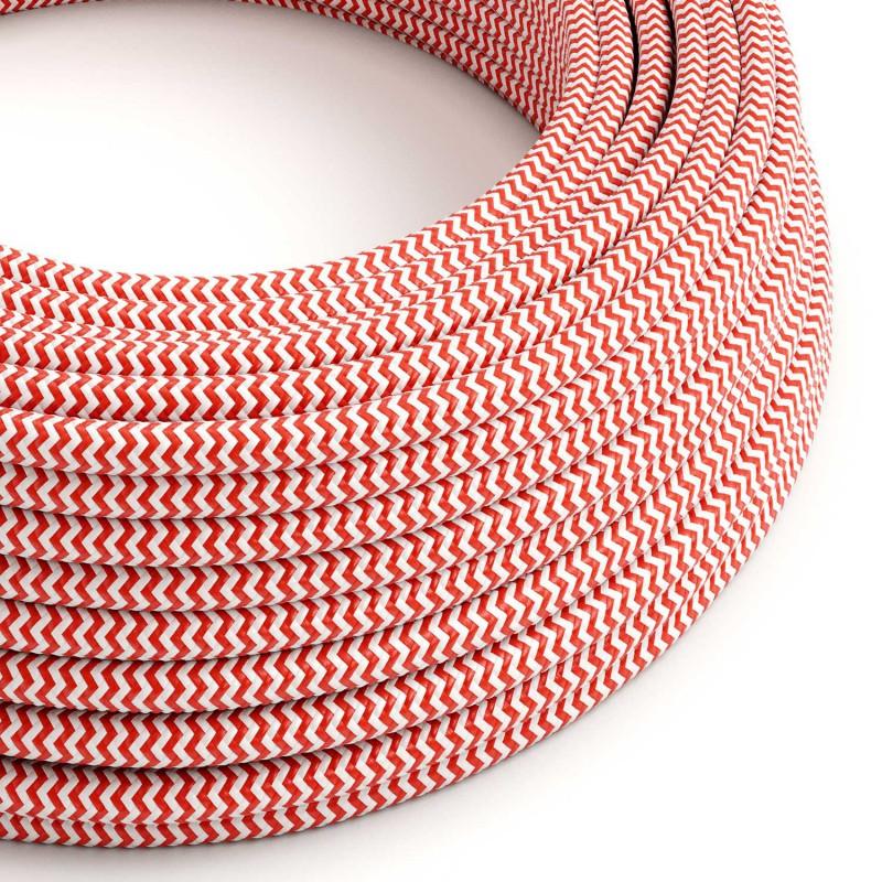 Rund tekstilledning i viskose - Zigzag RZ09 Rød