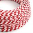 Rund tekstilledning i viskose - Multicolour RP09 Rød