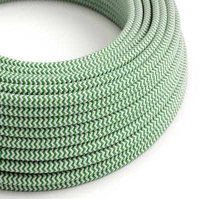 Rund tekstilledning i viskose - ZigZag RZ06 Grøn