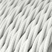 Snoet tekstilledning i viskose - TM01 Hvid